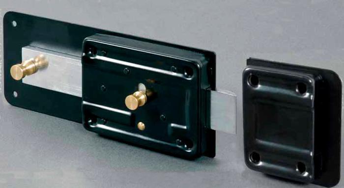 Cerradura para puerta con cerrojo segura o no club viro - Cerrojo de seguridad para puertas ...