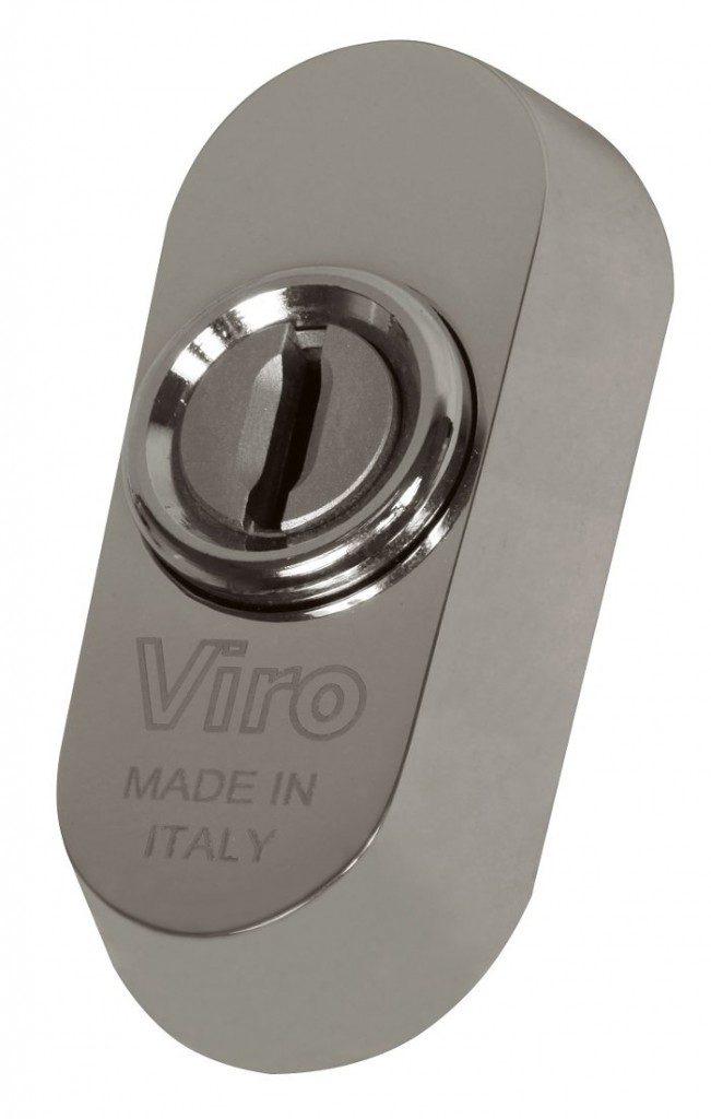 El escudo de seguridad universal Viro puede instalarse en la mayoría de las cerraduras con cilindro europeo, incluso sin perforaciones DIN.